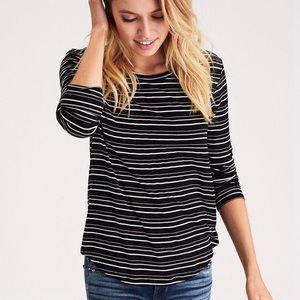 EUC AEO Soft & Sexy Long Sleeve Stripe Size M